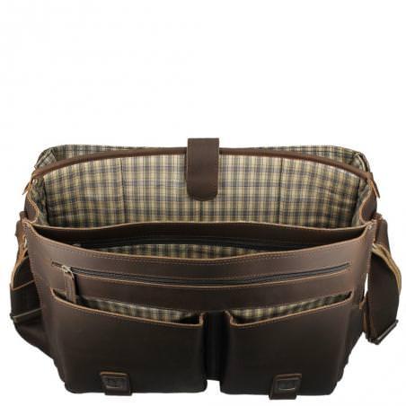 goedkoop ideal aunts uncles laptoptas hunter clark xl 15inch dark brown heren bruin tsjechië praag tassen 520000613_3